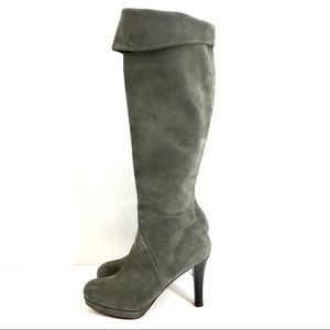BROOKS BROTHERS WOMEN'S GREY SUEDE BOOTS